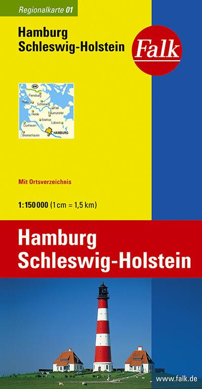 Falk Regionalkarte 01. Hamburg, Schleswig-Holstein. 1 : 150 000 als Buch