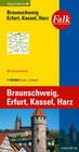 Falk Regionalkarte 08. Braunschweig, Erfurt, Kassel, Harz. 1 : 150 000