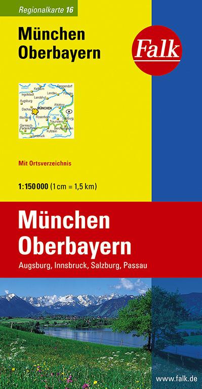 Falk Regionalkarte 16. München, Oberbayern. 1 : 150 000 als Buch