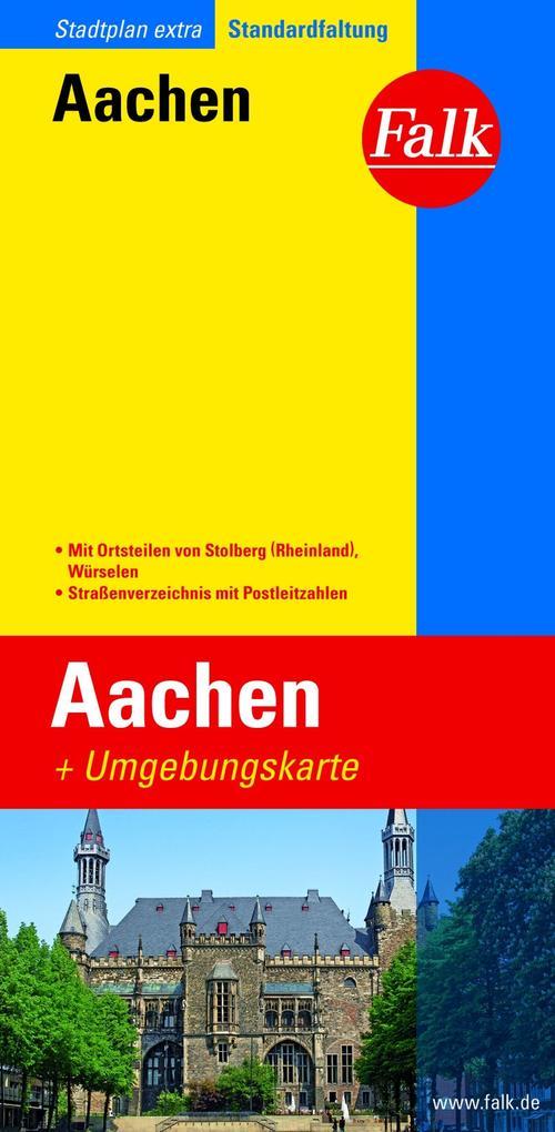 Falk Stadtplan Extra Standardfaltung Aachen 1:19 500 als Buch