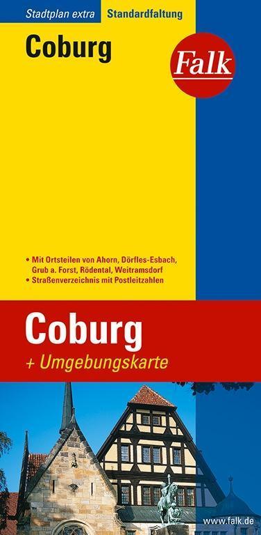 Falk Stadtplan Extra Standardfaltung Coburg 1 : 17 500 als Buch