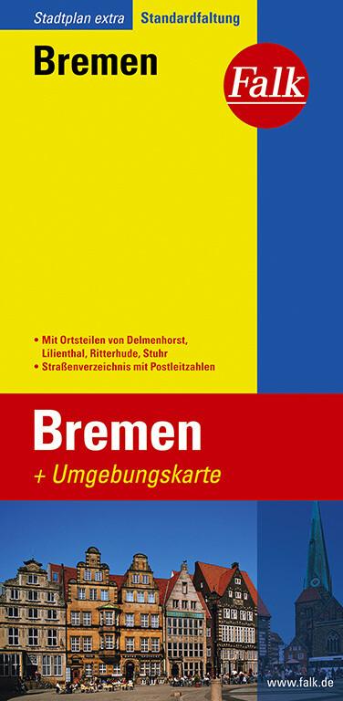 Falk Stadtplan Extra Standardfaltung Bremen mit Umgebungskarte als Buch