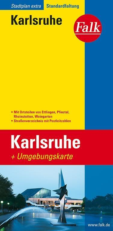 Falk Stadtplan Extra Standardfaltung Karlsruhe als Buch