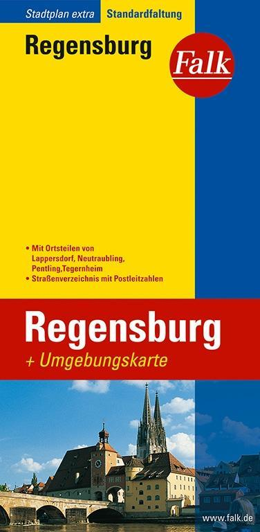 Falk Stadtplan Extra Standardfaltung Regensburg als Buch