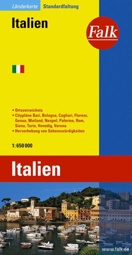 Falk Länderkarte Italien 1:650 000 als Buch