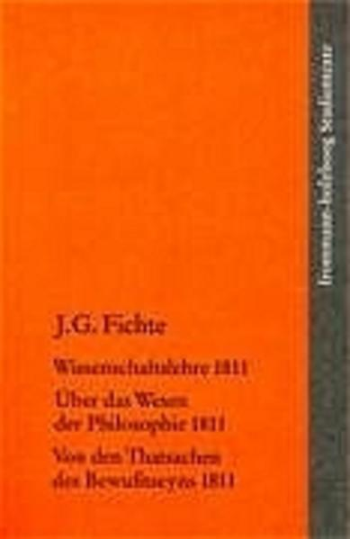 Wissenschaftslehre 1811 als Buch