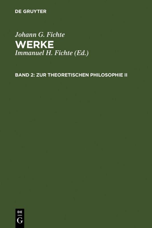 Zur theoretischen Philosophie II als Buch