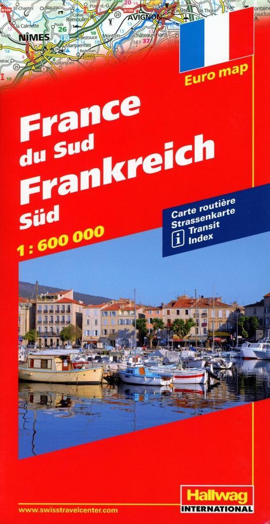Frankreich Süd 1 : 600 000 mit Distoguide als Buch