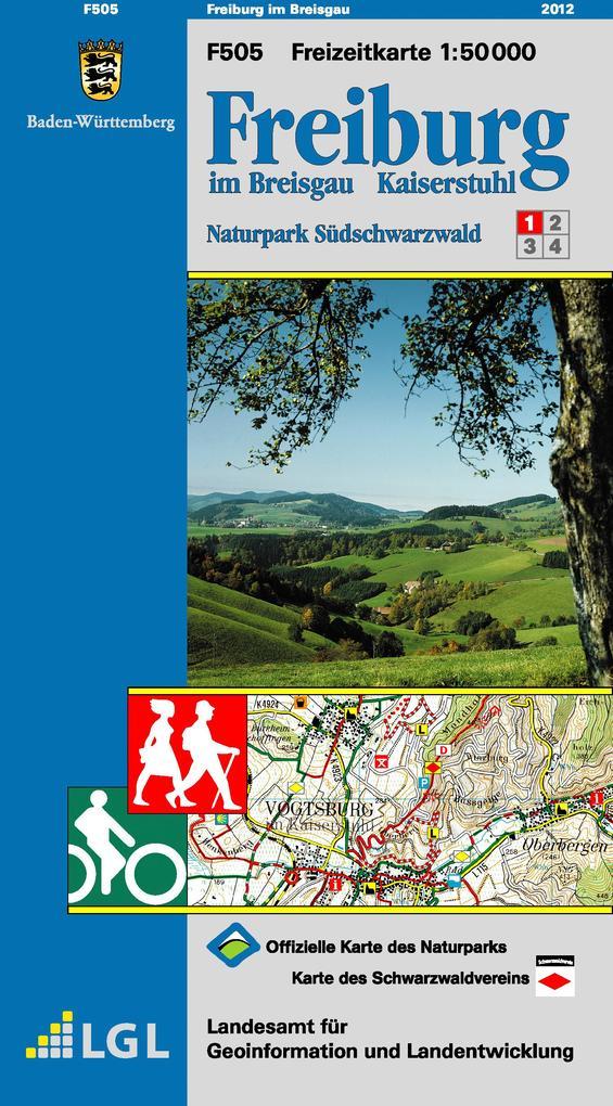 LGL BW 50 000 Freizeit Freiburg im Breisgau / Kaiserstuhl als Buch