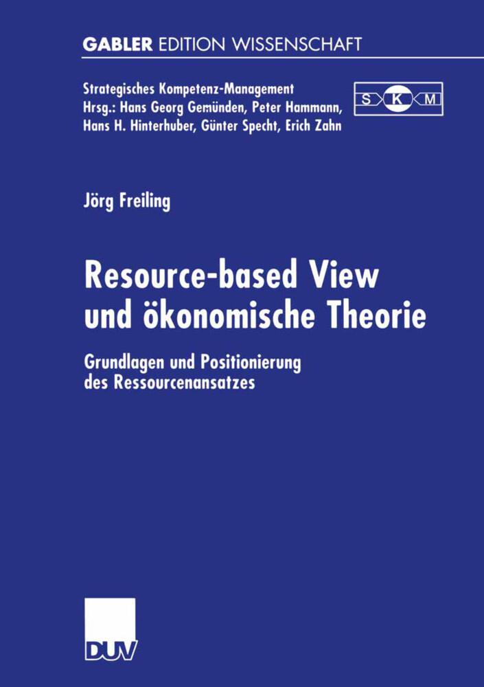 Resource-based View und ökonomische Theorie als Buch