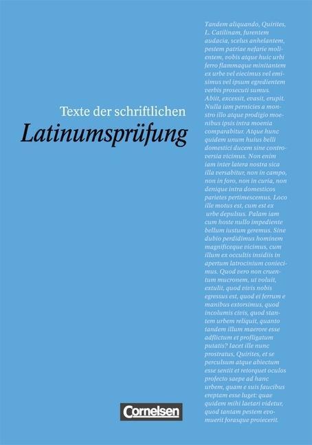Texte der schriftlichen Latinumsprüfung als Buch