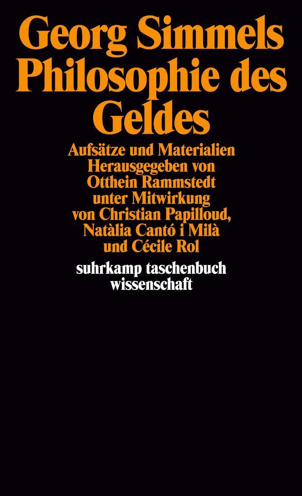 Georg Simmels ' Philosophie des Geldes' als Taschenbuch