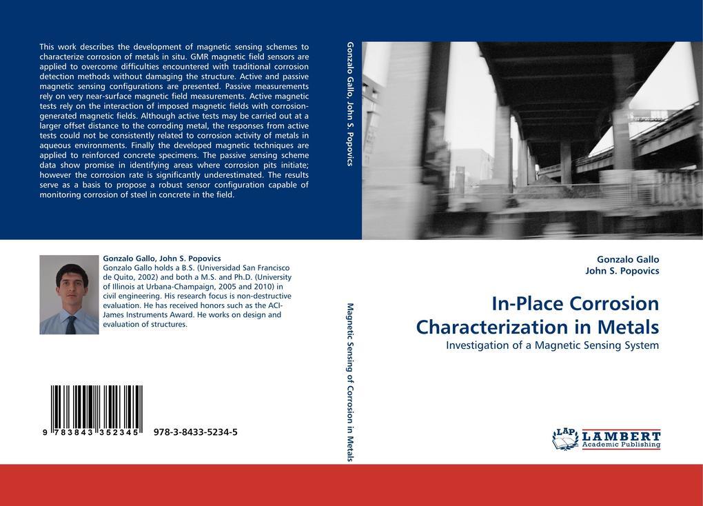 In-Place Corrosion Characterization in Metals als Buch von Gonzalo Gallo, John S. Popovics - LAP Lambert Acad. Publ.