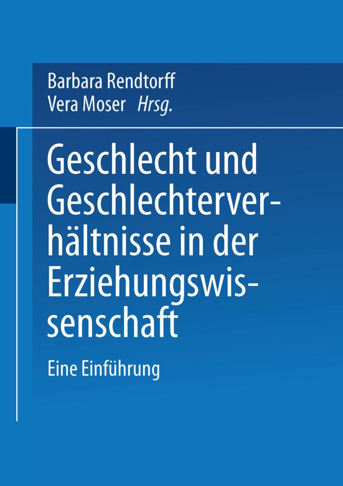 Geschlecht und Geschlechterverhältnisse in der Erziehungswissenschaft als Buch