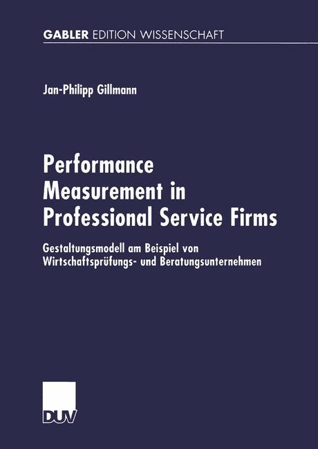 Performance Measurement in Professional Service Firms als Buch