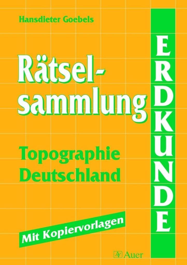 Rätselsammlung Topographie - Deutschland als Buch