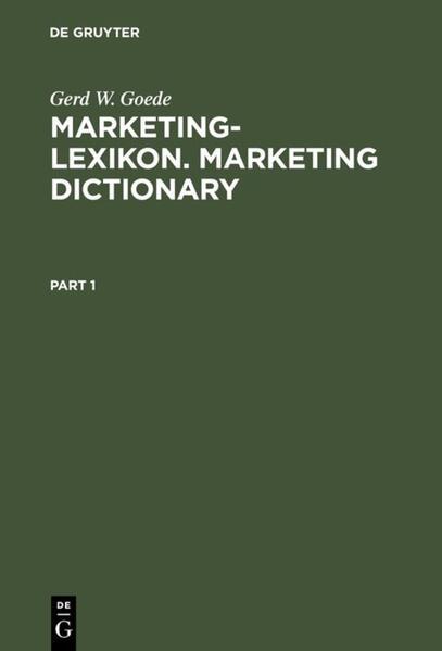 Marketing-Lexikon. Marketing Dictionary als Buch