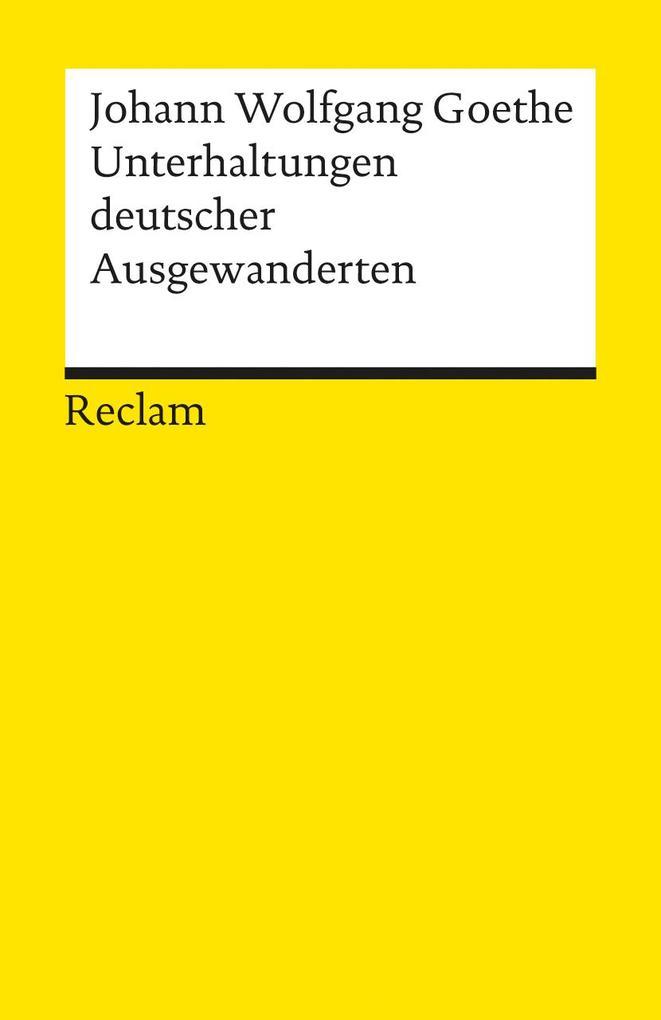 Unterhaltungen deutscher Ausgewanderten als Taschenbuch