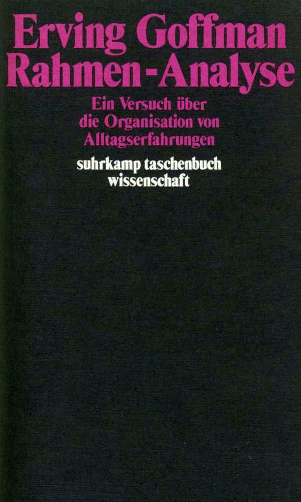 Rahmen - Analyse als Taschenbuch