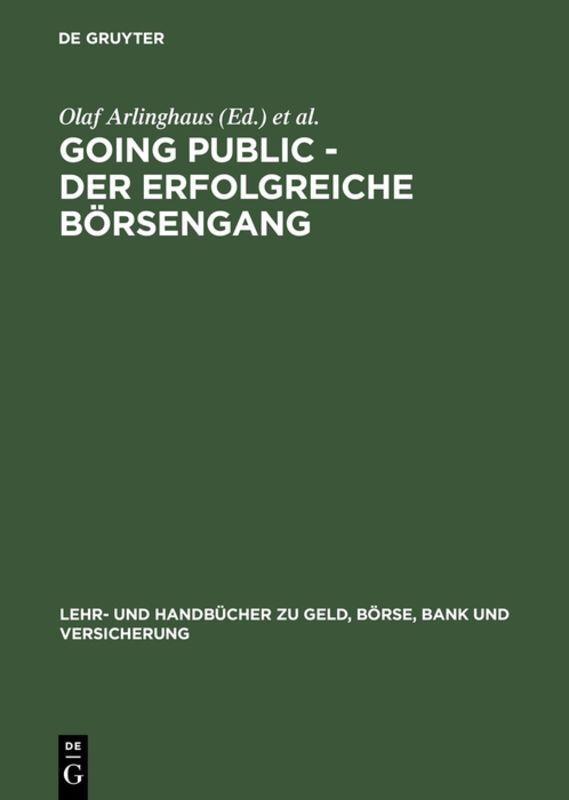 Going Public - Der erfolgreiche Börsengang als Buch