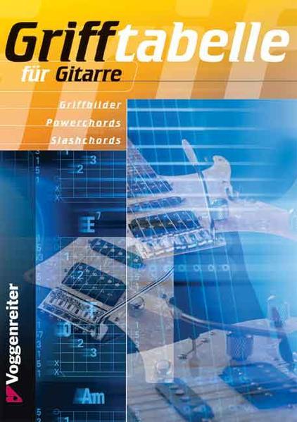 Grifftabelle für Gitarre als Buch