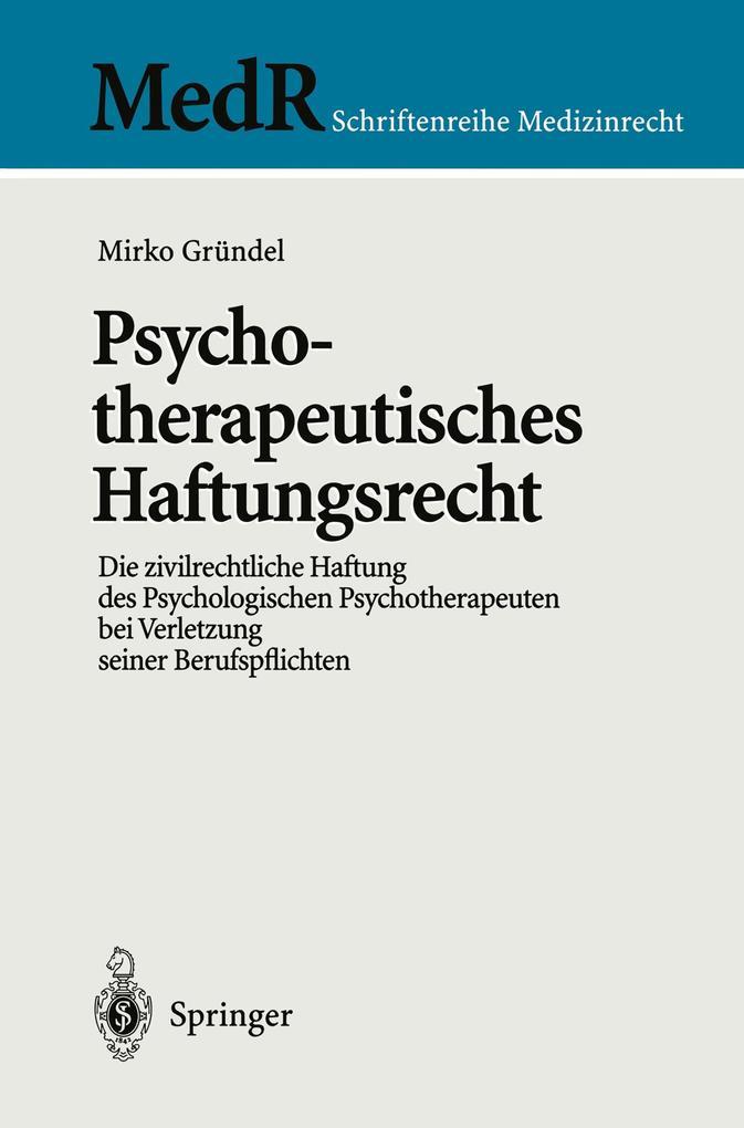 Psychotherapeutisches Haftungsrecht als Buch