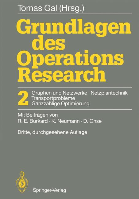 Grundlagen des Operations Research als Buch