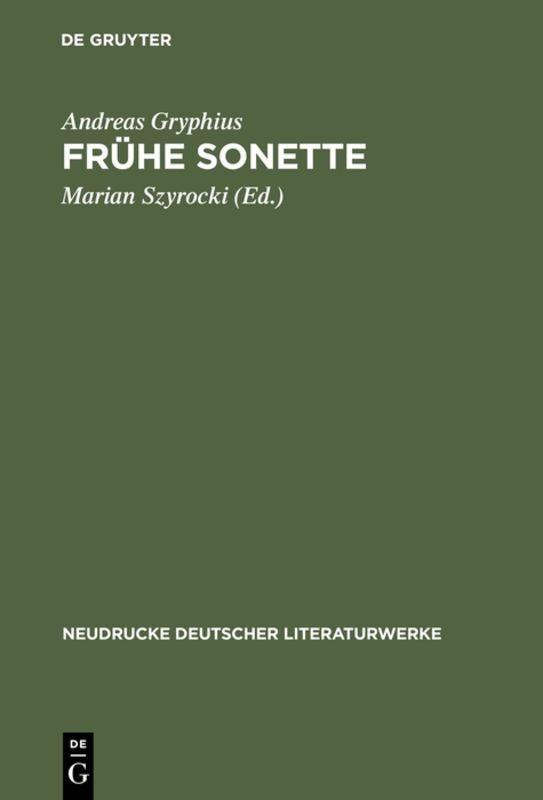 Frühe Sonette als Buch