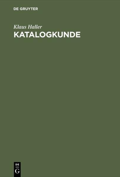 Katalogkunde als Buch