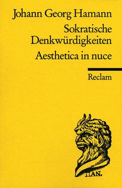 Sokratische Denkwürdigkeiten / Aesthetica in nuce als Taschenbuch
