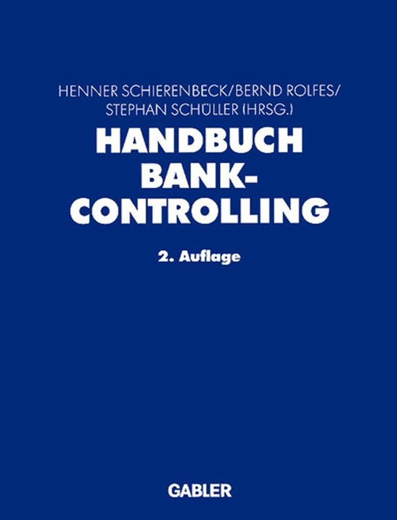 Handbuch Bankcontrolling als Buch