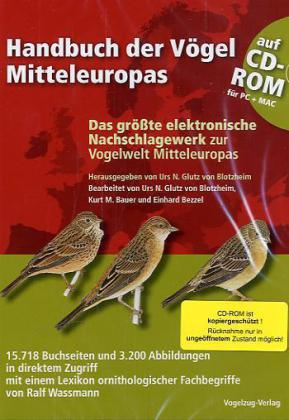 Handbuch der Vögel Mitteleuropas. CD-ROM als Software