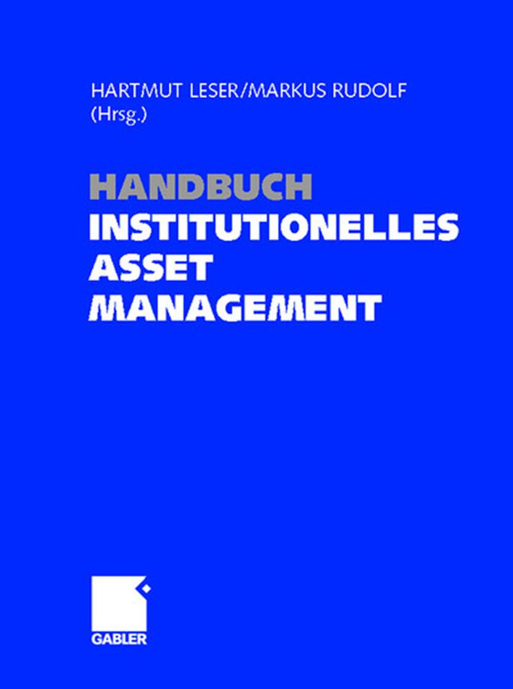 Handbuch Institutionelles Investment als Buch