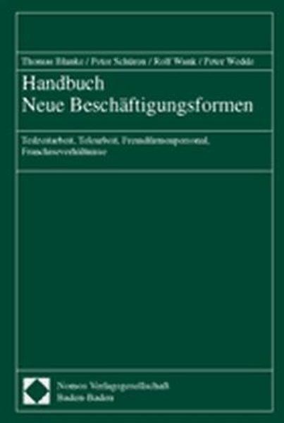 Handbuch Neue Beschäftigungsformen als Buch