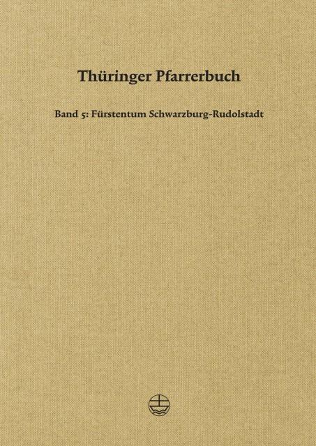 Thüringer Pfarrerbuch als Buch