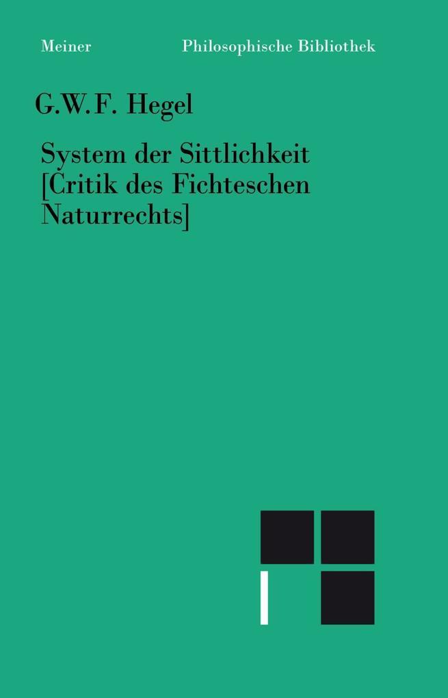 System der Sittlichkeit als Buch
