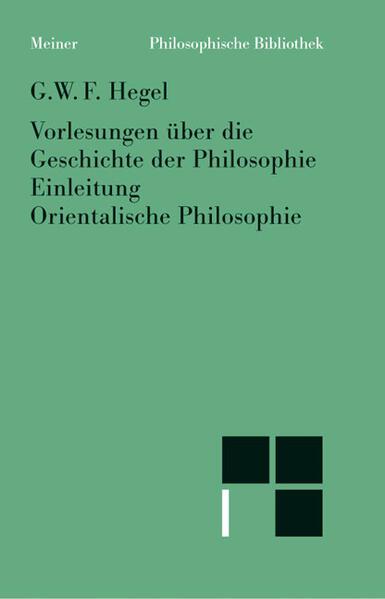 Vorlesungen über die Geschichte der Philosophie I als Buch