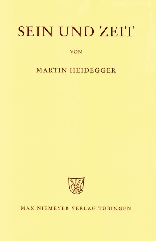 Gesamtausgabe Abt. 1 Veröffentlichte Schriften Bd. 2. Sein und Zeit als Buch