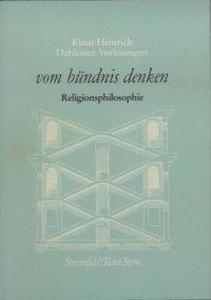 Dahlemer Vorlesungen 4. Religionsphilosophie als Buch