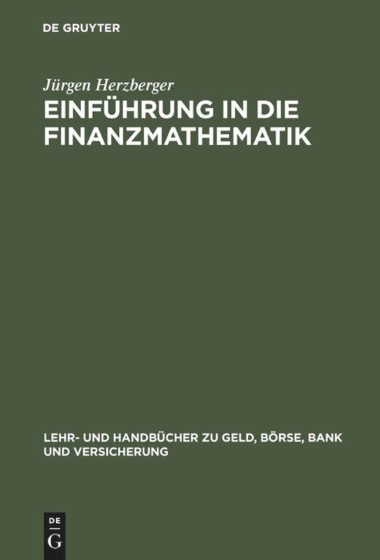 Einführung in die Finanzmathematik als Buch