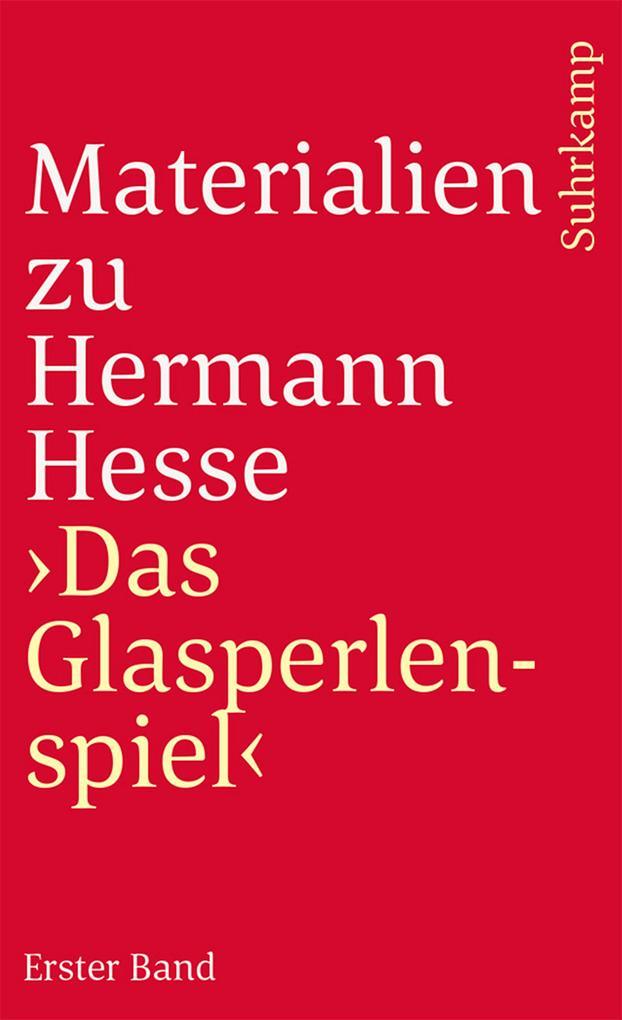 Materialien zu Hermann Hesse: Das Glasperlenspiel I als Taschenbuch