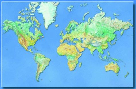 Hildebrands Weltkarte. Die Welt. Poster-Karte als Buch