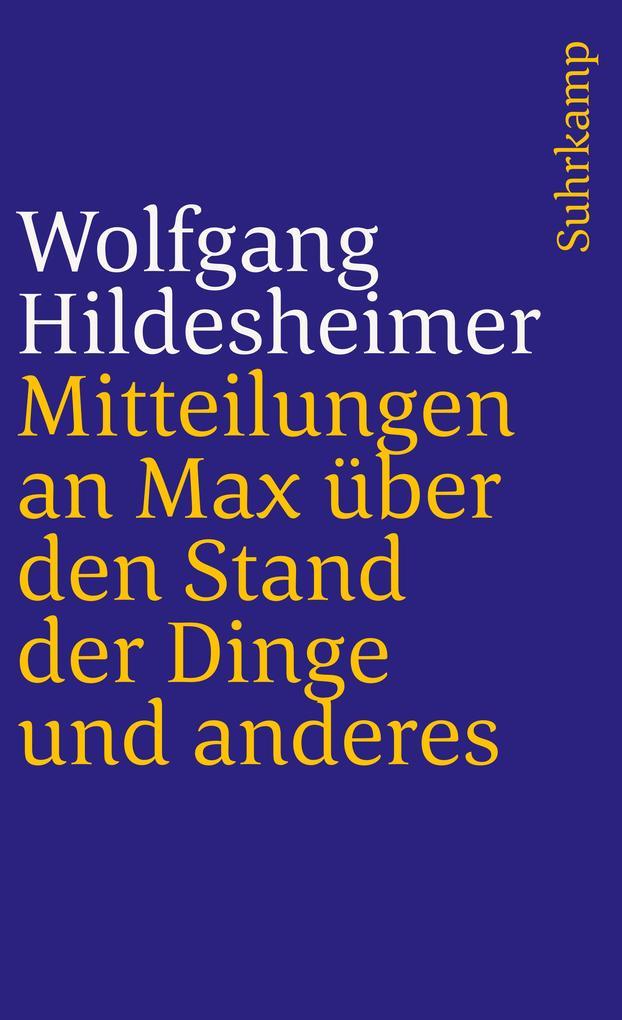 Mitteilungen an Max über den Stand der Dinge und anderes als Taschenbuch