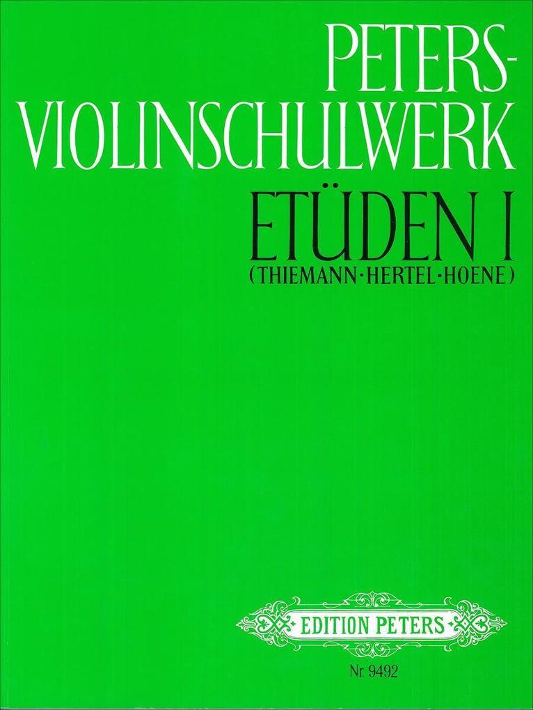 Peters-Violinschulwerk: Etüden Band 1