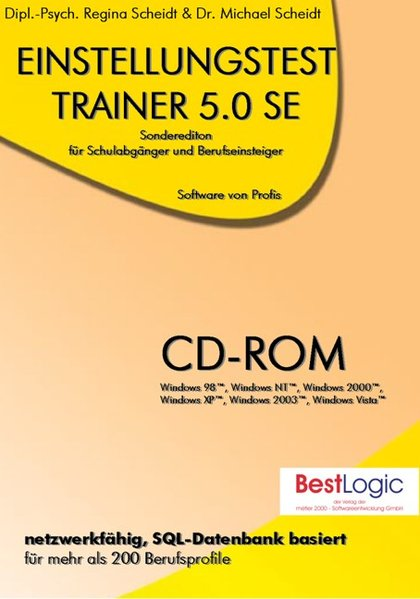 Einstellungstest-Trainer 5.0 SE. Für Windows Vista/2003/XP/2000/NT/98 als Software