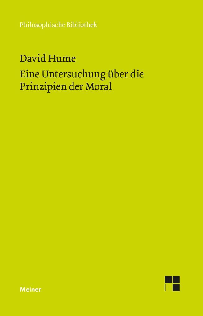 Untersuchung über die Prinzipien der Moral als Buch