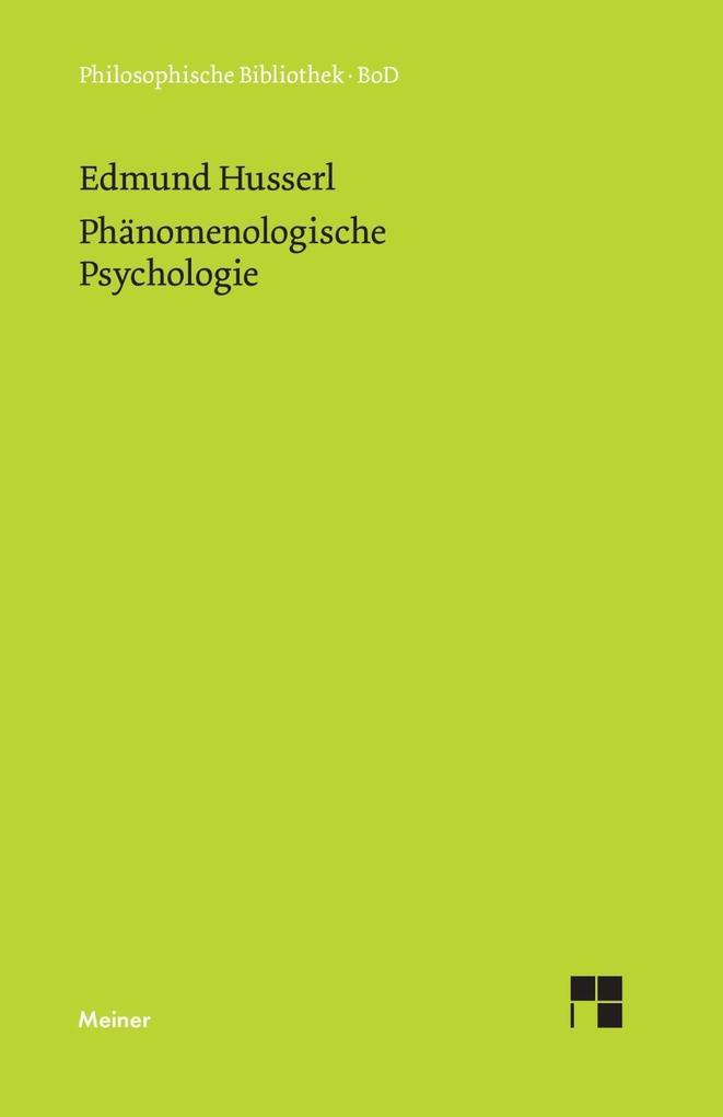 Phänomenologische Psychologie als Buch