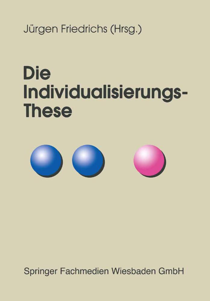 Die Individualisierungs-These als Buch