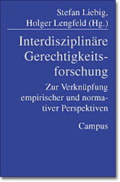 Interdisziplinäre Gerechtigkeitsforschung als Buch