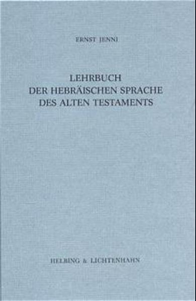 Lehrbuch der hebräischen Sprache des Alten Testaments als Buch